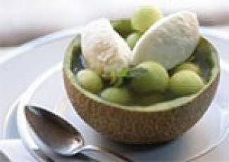 Gevulde Meloen - Ijs En Gember