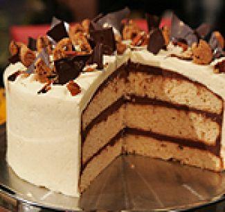 Chocolade-Pindakaastaart Volgens Amerikaans Recept