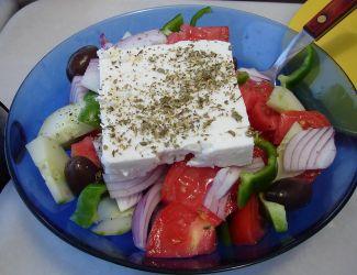 Heerlijke Traditionele Griekse Salade Met Feta Kaas