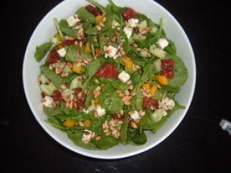 Spinazie Salade Met Kaas