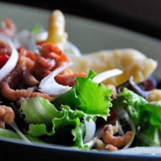 Salade Van Asperge & Garnalen