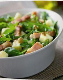 Salade Van Rucola, Appel En Spekreepjes