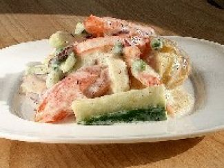 Zomerse Salade Met Dille-yoghurt
