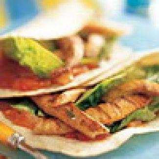 Taco's Met Geroosterde Vis
