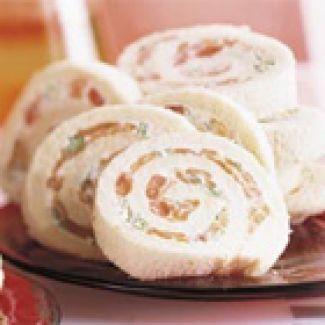 Sandwich-rolletjes Met Gerookte Zalm