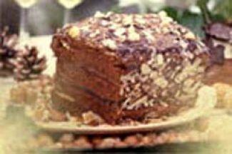 Chocolade-abrikozentaart