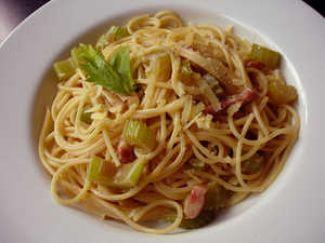 Spaghetti Met Bleekselderij