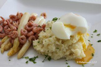 Omelet Met Prei En Garnalen