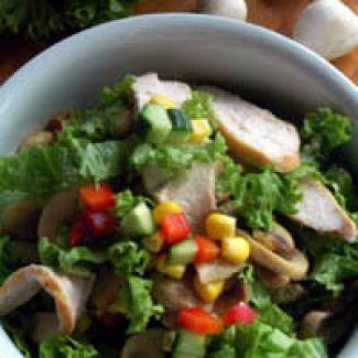 Salade Van Kip & Champignons