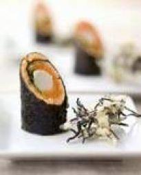 Sushi-hap Met Zalm En Asperges