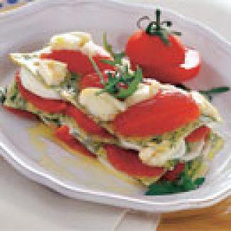 Lasagnetta Met Mozzarella, Tomaat En Rucola