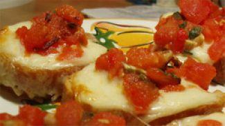 Bruschetta Met Knoflook En Porcini