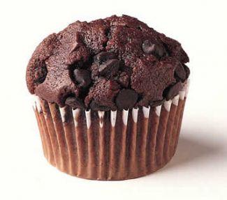 Lekkere Chocolade Muffin Voor Bij Een High Tea