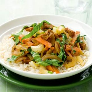 Pikante Tofu Met Wintergroenten