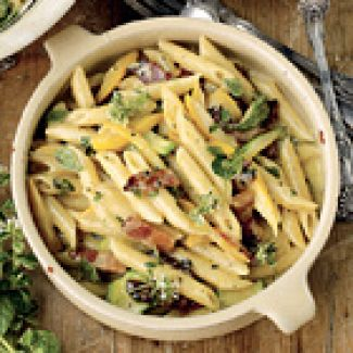 Pasta Carbonara Met Courgette