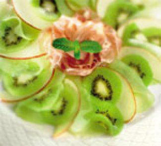 Fruitcarpaccio Met Ganda Ham