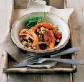 Salade Van Pompoen, Kip En Linzen