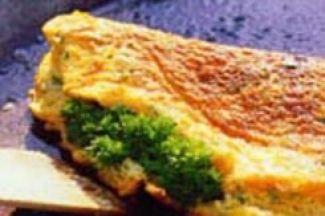 Omelet Met Korianderpesto