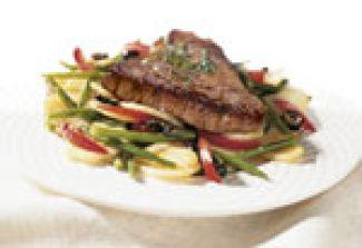 Biefstuk Met Aardappel-groentensalade