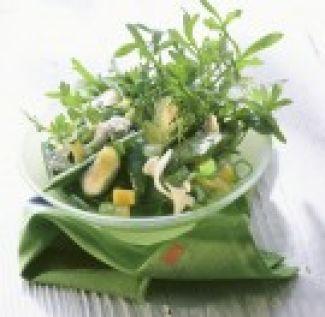 Salade Van Rucola, Broccoli, Courgette En Kruiden