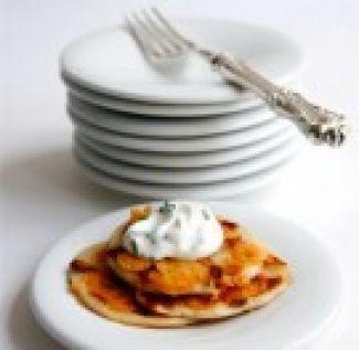 Mini Pannekoekjes Met Spek En Kaas