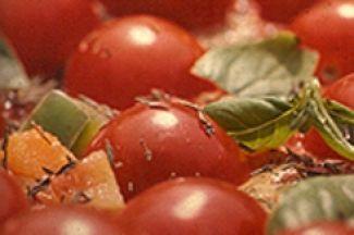 Tomatenpizza Op Z'n Kop